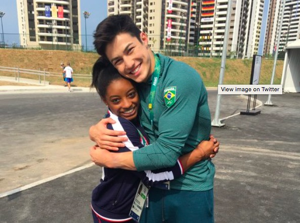 "Simone Biles and her ""Brazilian boyfriend"" Arthur Nory are the cutest things we've ever seen"