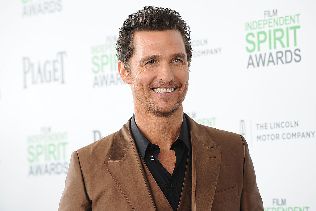 Matthew McConaughey has a secret YouTube account so that's what we're watching, obviously