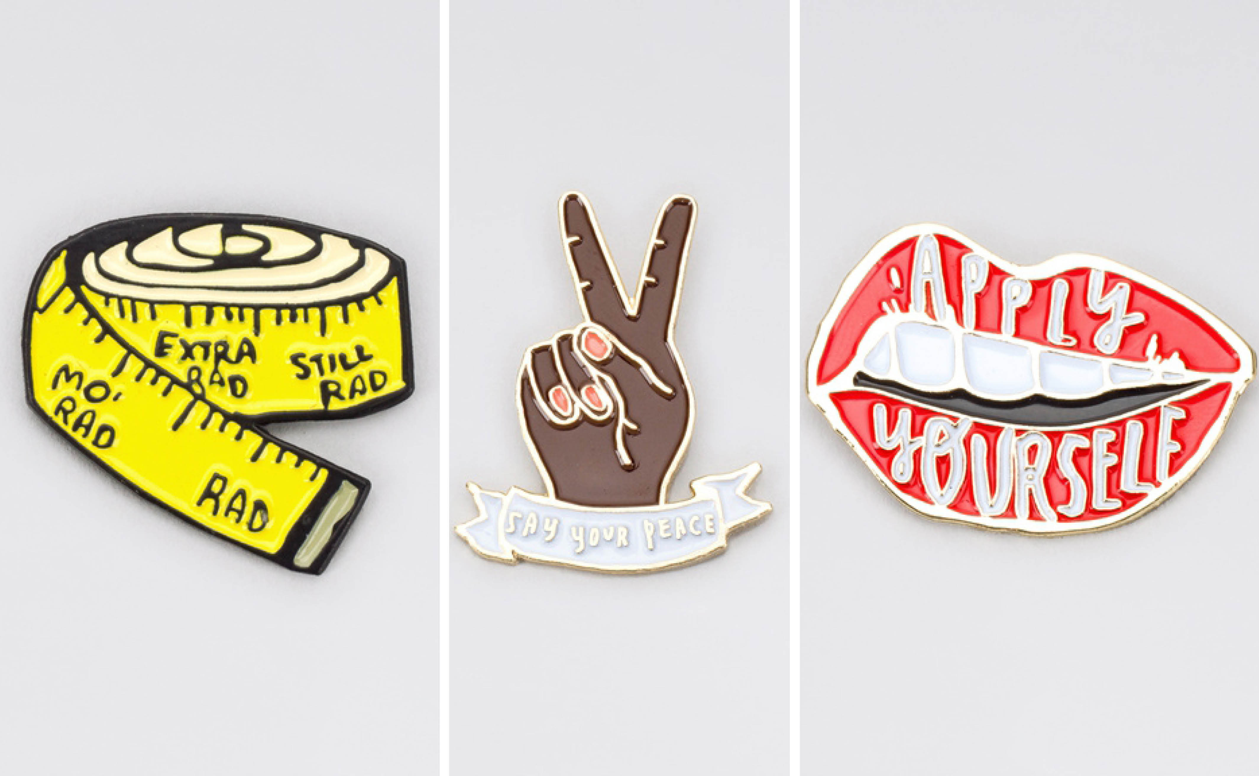 This special-edition pin collection belongs in every feminist's fashion repertoire