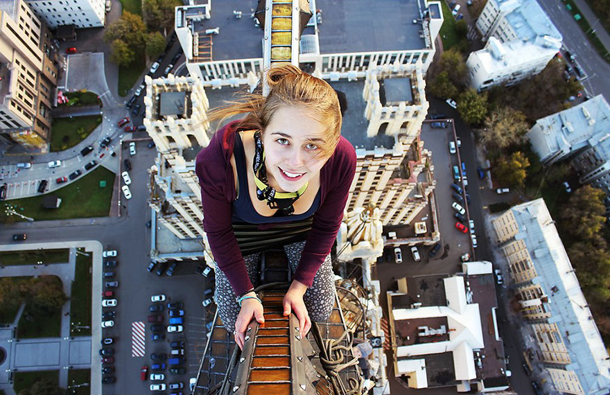 This girl's daring selfies will scare you to death (but you won't be able to look away)