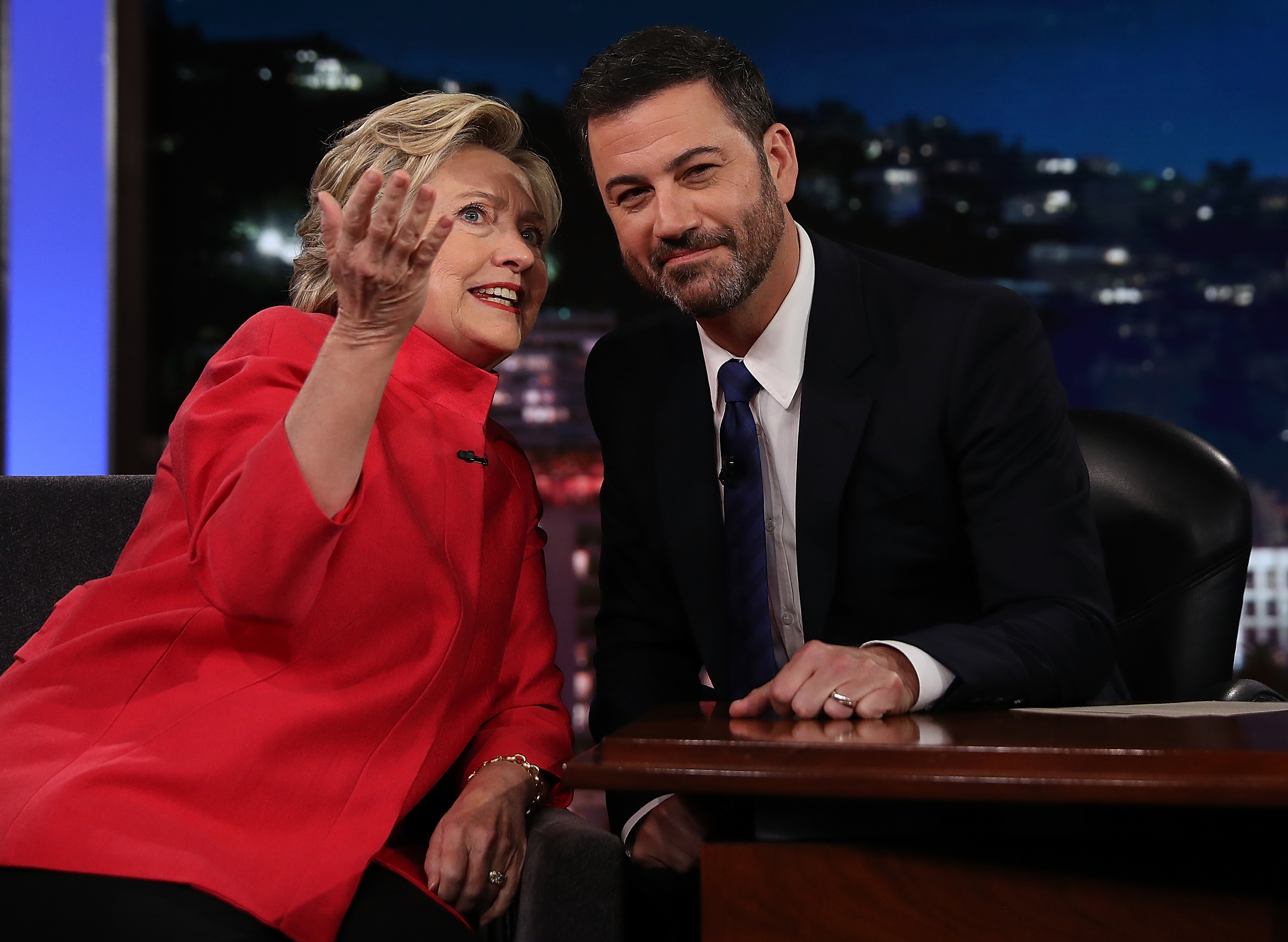 Hillary Clinton went on 'Jimmy Kimmel' and addressed some seriously insane rumors