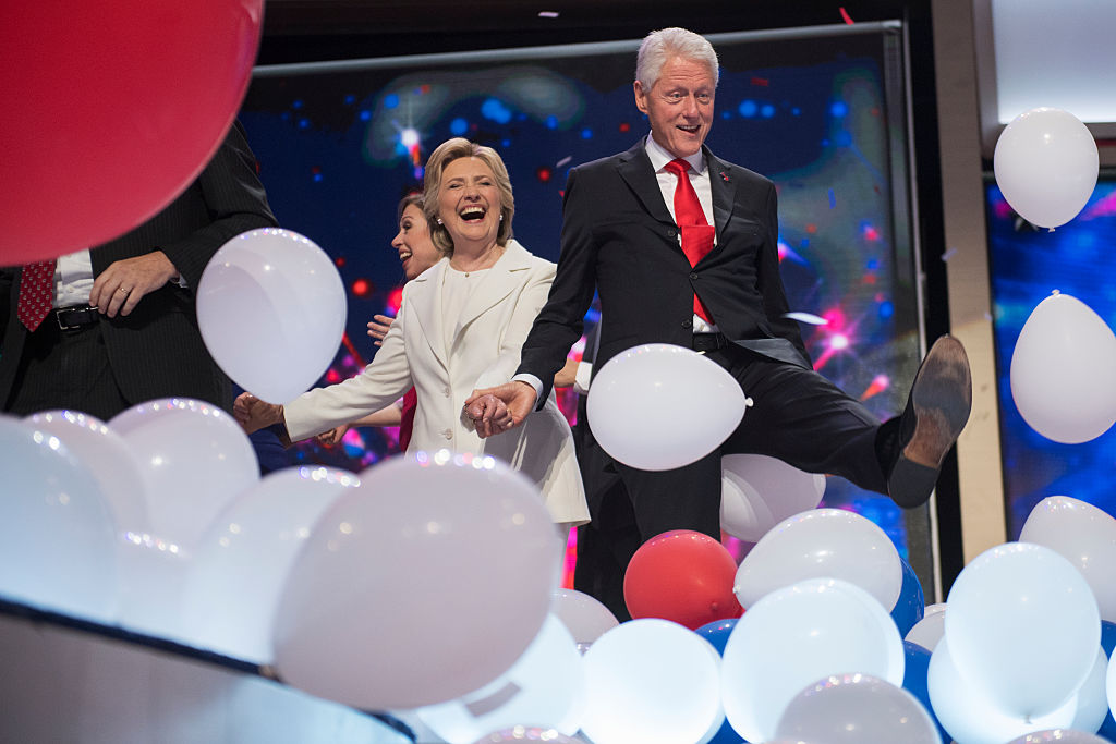 Hillary Clinton explains Bill's intense (and adorable) balloon love at the DNC