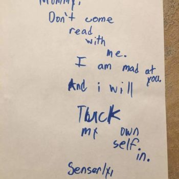 This kid who banned his mom from bedtime stories with a hilarious note is our hero