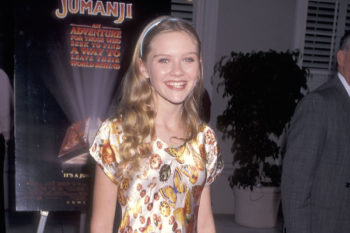 """Kirsten Dunst is a tiny beautiful butterfly at the """"Jumanji"""" premiere in 1995"""