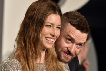 Justin Timberlake and Jessica Biel took photo booth pics with Hillary Clinton, and it's adorable