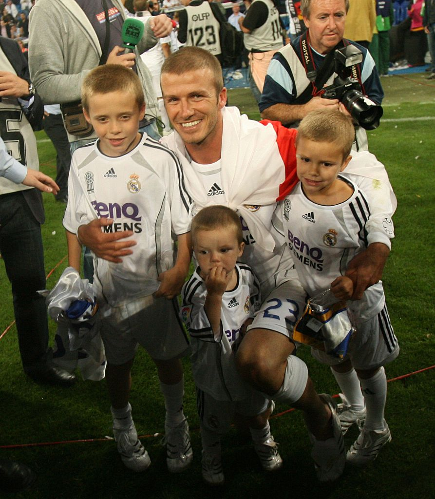 These throwback photos of the Beckham brood are so cute, you'll scream