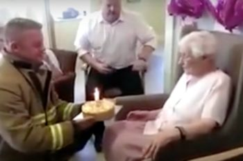 Woman turns 105 years old, lives her truth by requesting sexy firefighters