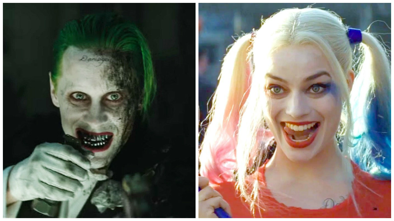 """A new image was just released that shows the DARKER side of """"Suicide Squad's"""" Harley Quinn and the Joker"""