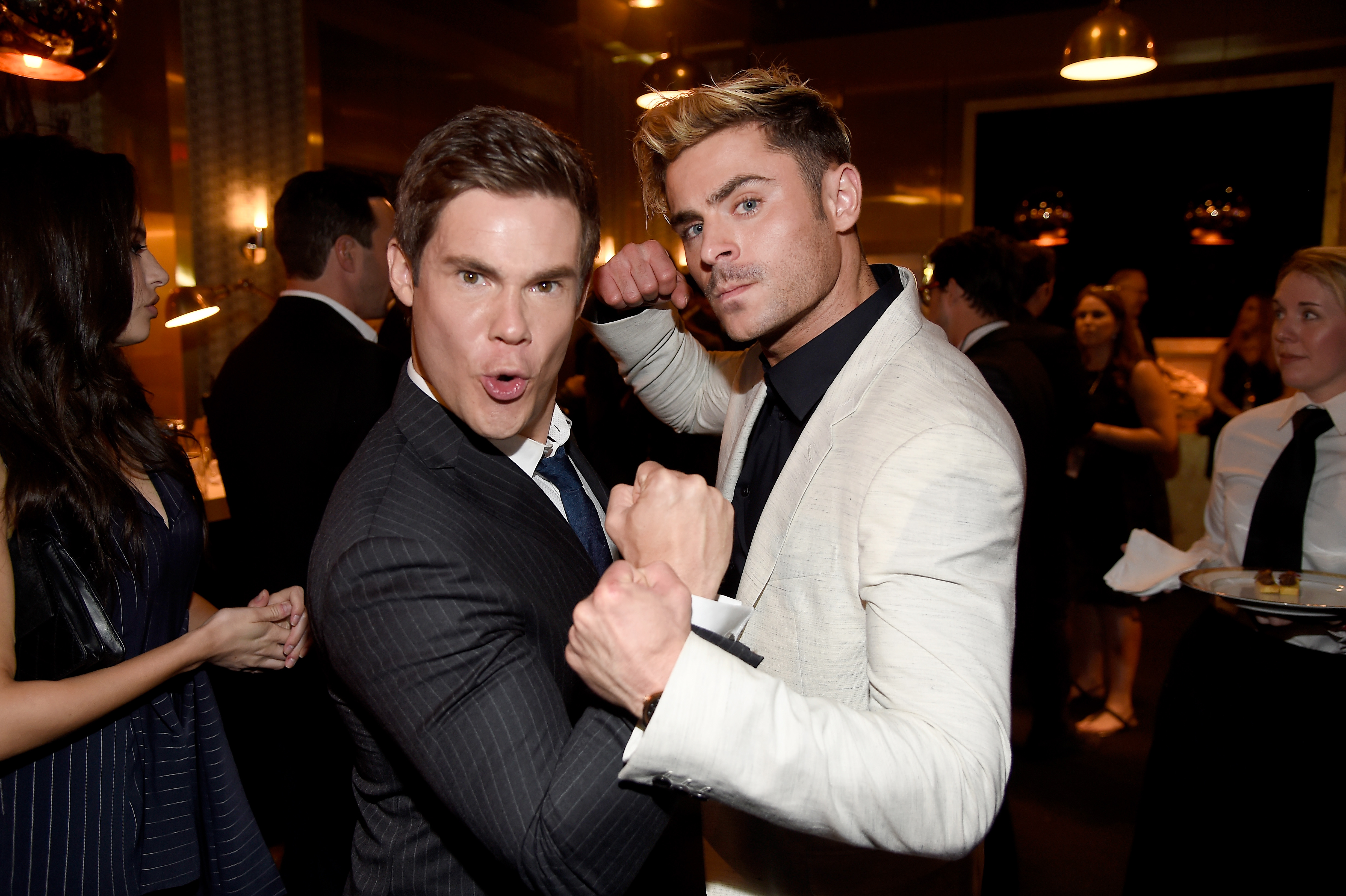 How come we never noticed that Zac Efron and Adam DeVine always take the most bonkers photos?