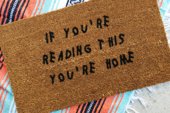 Why yes, we are buying these ON-POINT welcome mats on a Friday