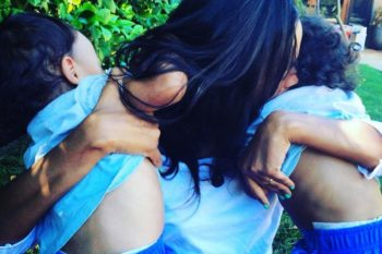 Zoe Saldana rapping with her twin babies is the fiercest thing ever