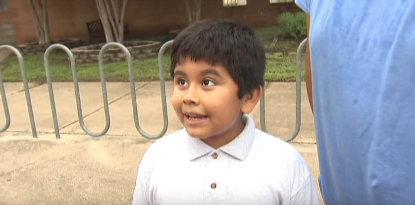 This kid is SO pumped about starting fourth grade and it's the cutest thing ever