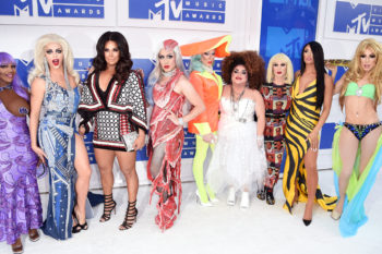 "The Queens of ""Ru Paul's Drag Race All-Stars"" recreated some unforgettable past VMA looks last night"
