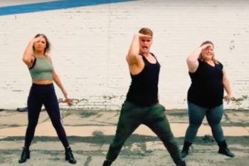 This fitness video set to a Meghan Trainor song is the most fabulous workout we've ever seen