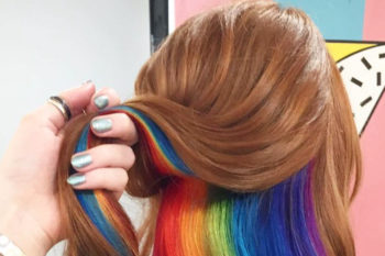 We're obsessed with this Lisa Frank hair and want it to be a trend ASAP