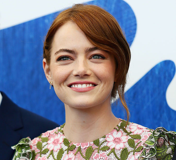 Emma Stone looks like a garden fairy in this playfully short dress