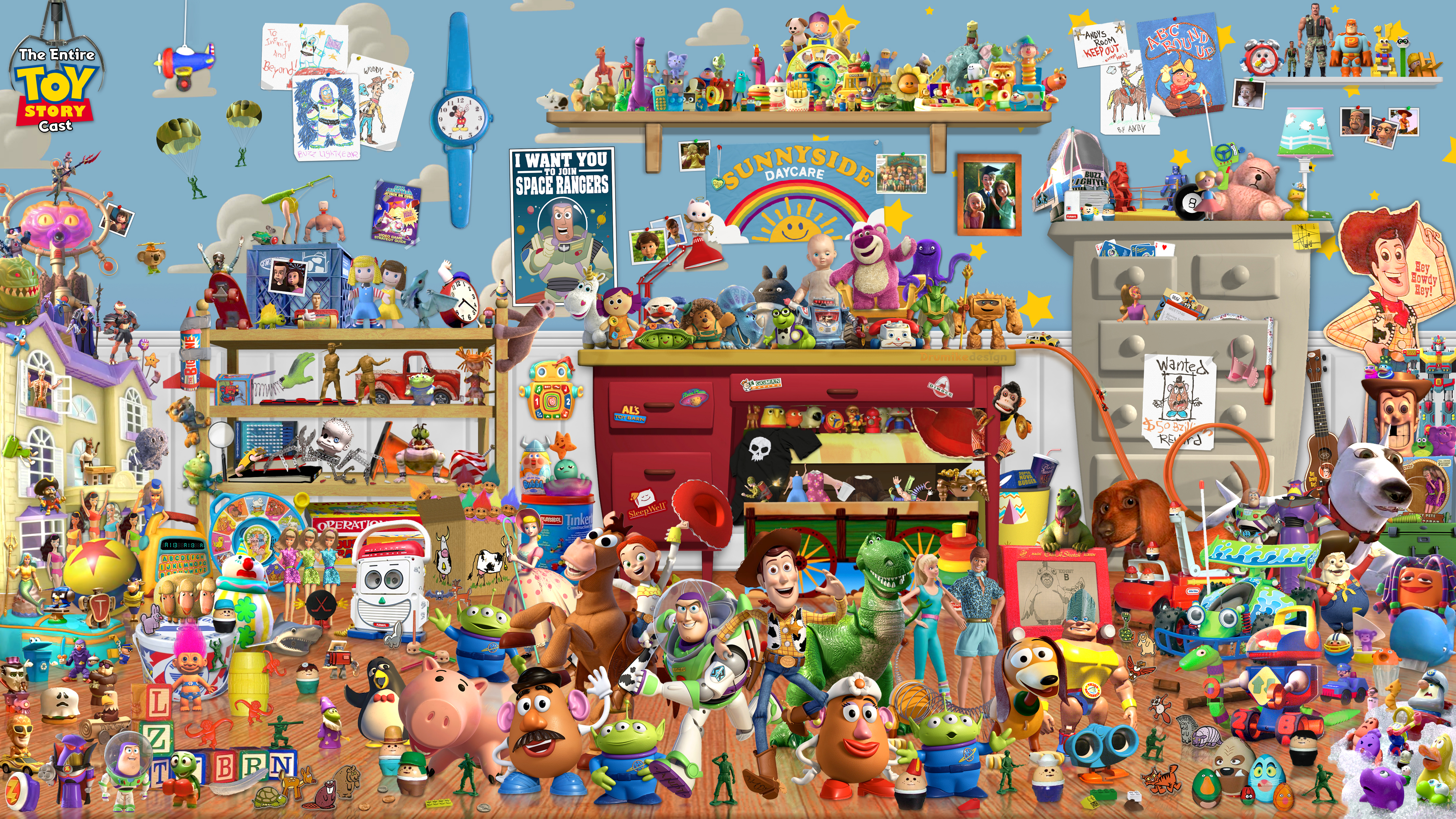 All Toy Story 3 Games : Here s every single quot toy story character in one picture