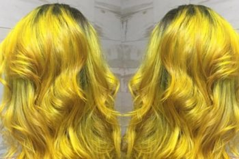 Bright yellow hair is fall's hottest accessory