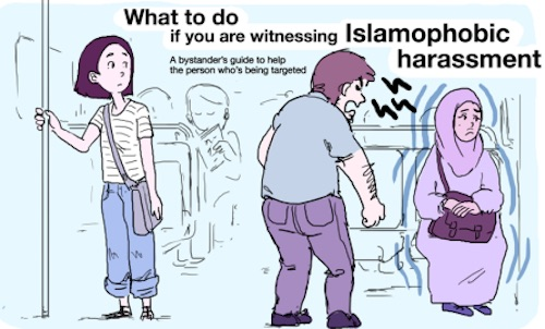 Everyone needs to read this comic so we all know how to stop Islamophobic attacks