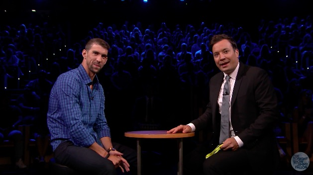 Michael Phelps and Jimmy Fallon play Russian roulete with raw eggs, and it's actually adorable