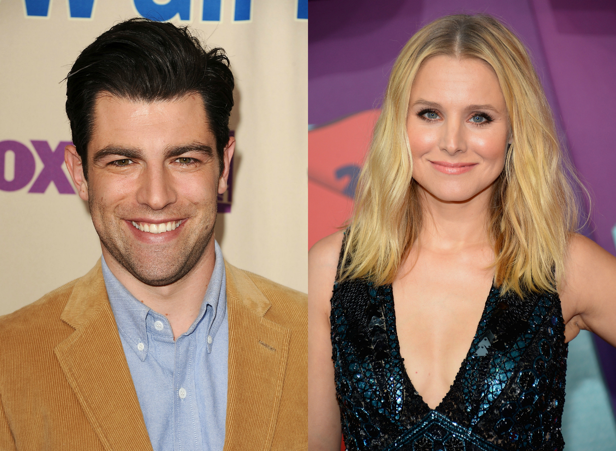 "These old pics of Max Greenfield and Kristen Bell in love on the set of ""Veronica Mars"" make us feel things"