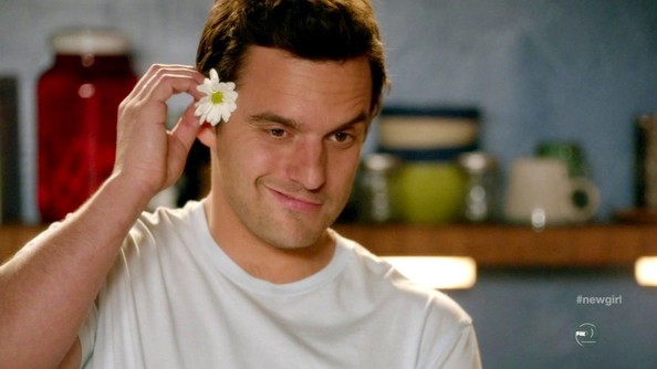 Jake Johnson with a mustache looks nothing like Jake Johnson