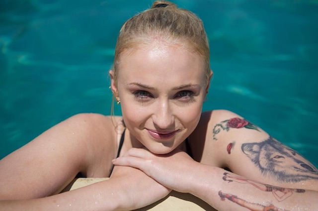 Sophie Turner looked like she had the best time filming her latest role