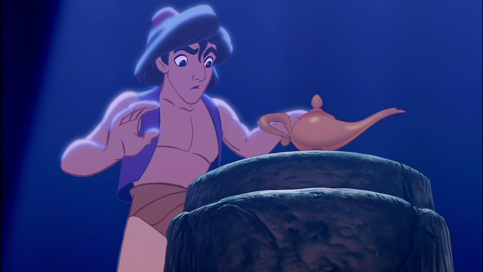 Attention: Aladdin is no longer shirtless and we're kinda sad about it