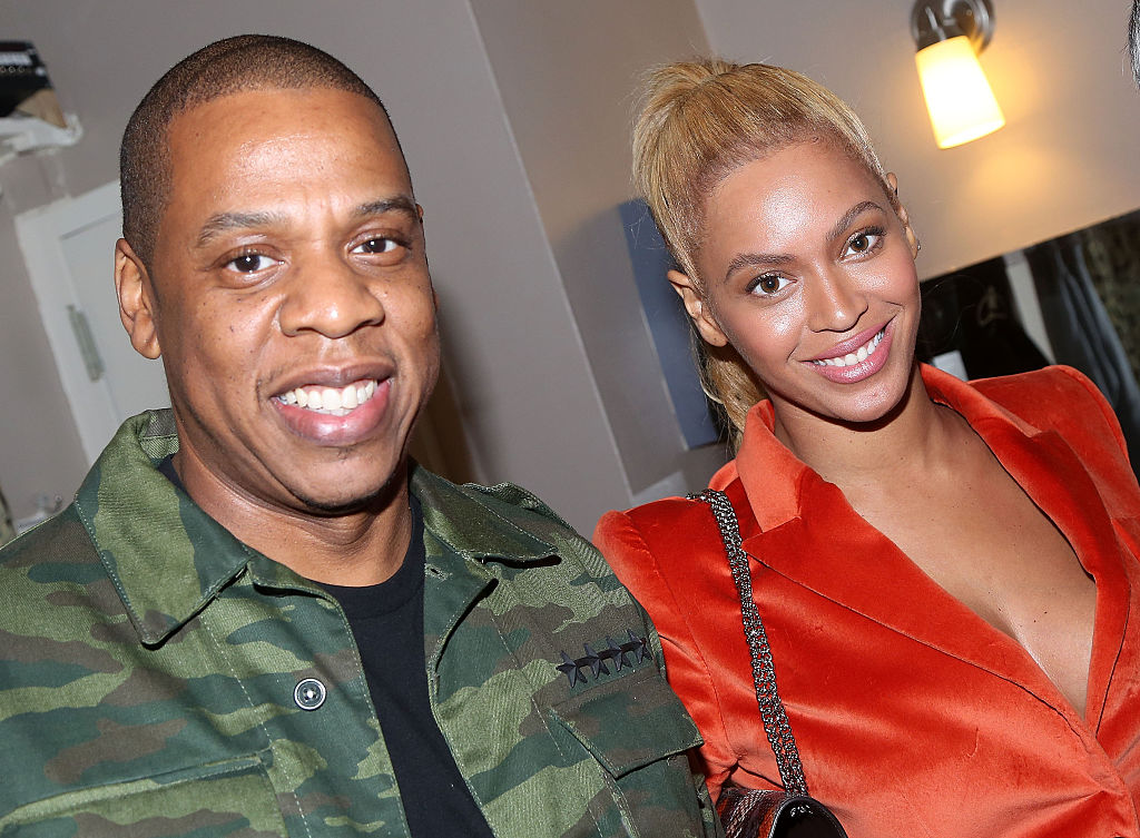 Beyoncé and Jay Z are the ultimate fashion couple in their matching rocker outfits