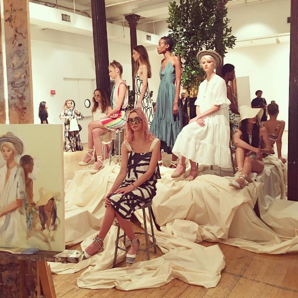 This NYFW presentation was part fashion show, part drawing class and 100% awesome