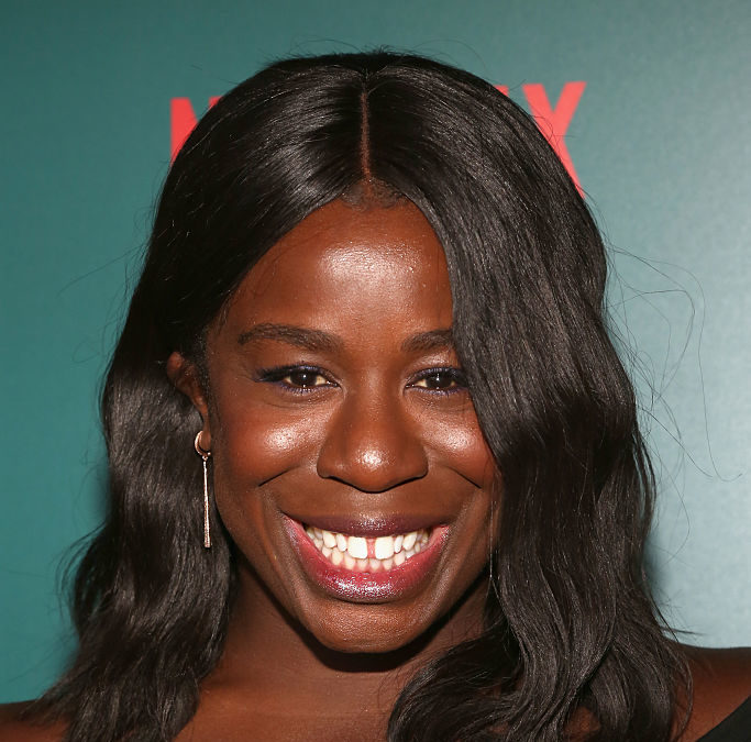 "Uzo Aduba from ""Orange is the New Black"" got such fabulous bangs, we want to cut our hair"