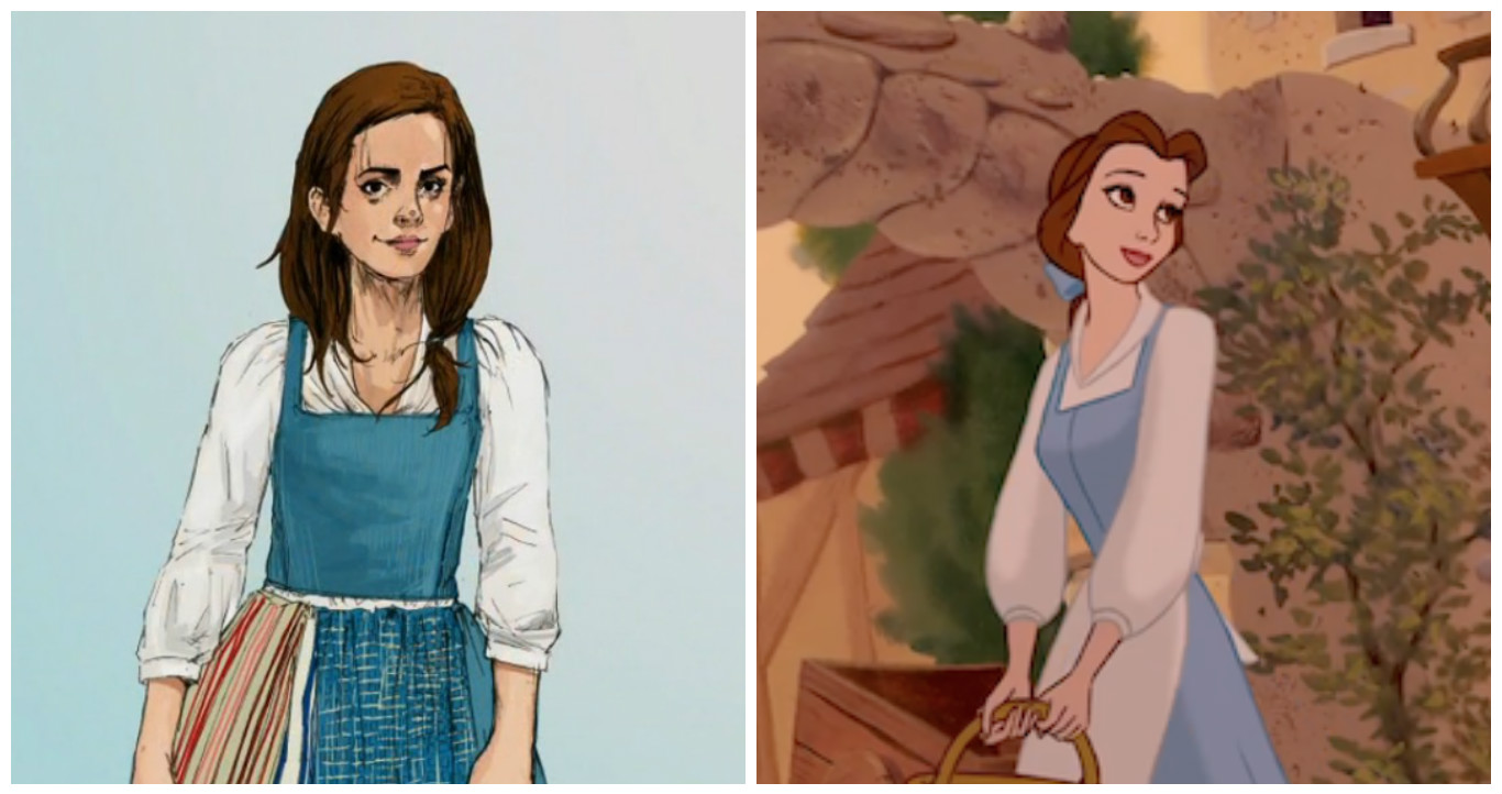 "Here's your first look at Emma Watson as Belle in ""Beauty and the Beast"""