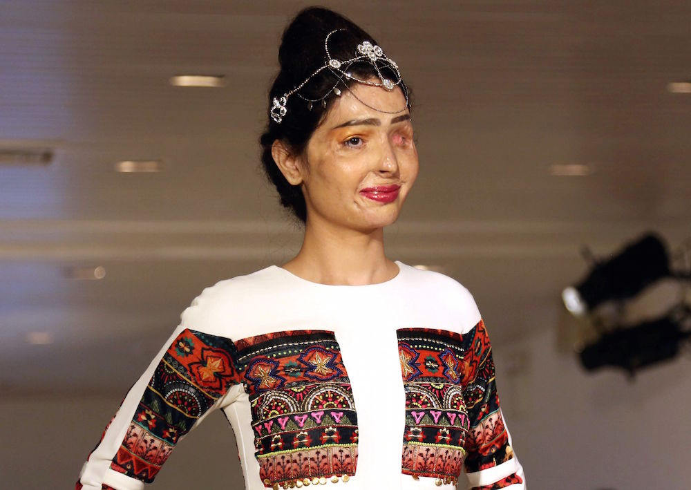 Acid attack survivor Reshma Qureshi walked the runway at NYFW and it was totally inspiring