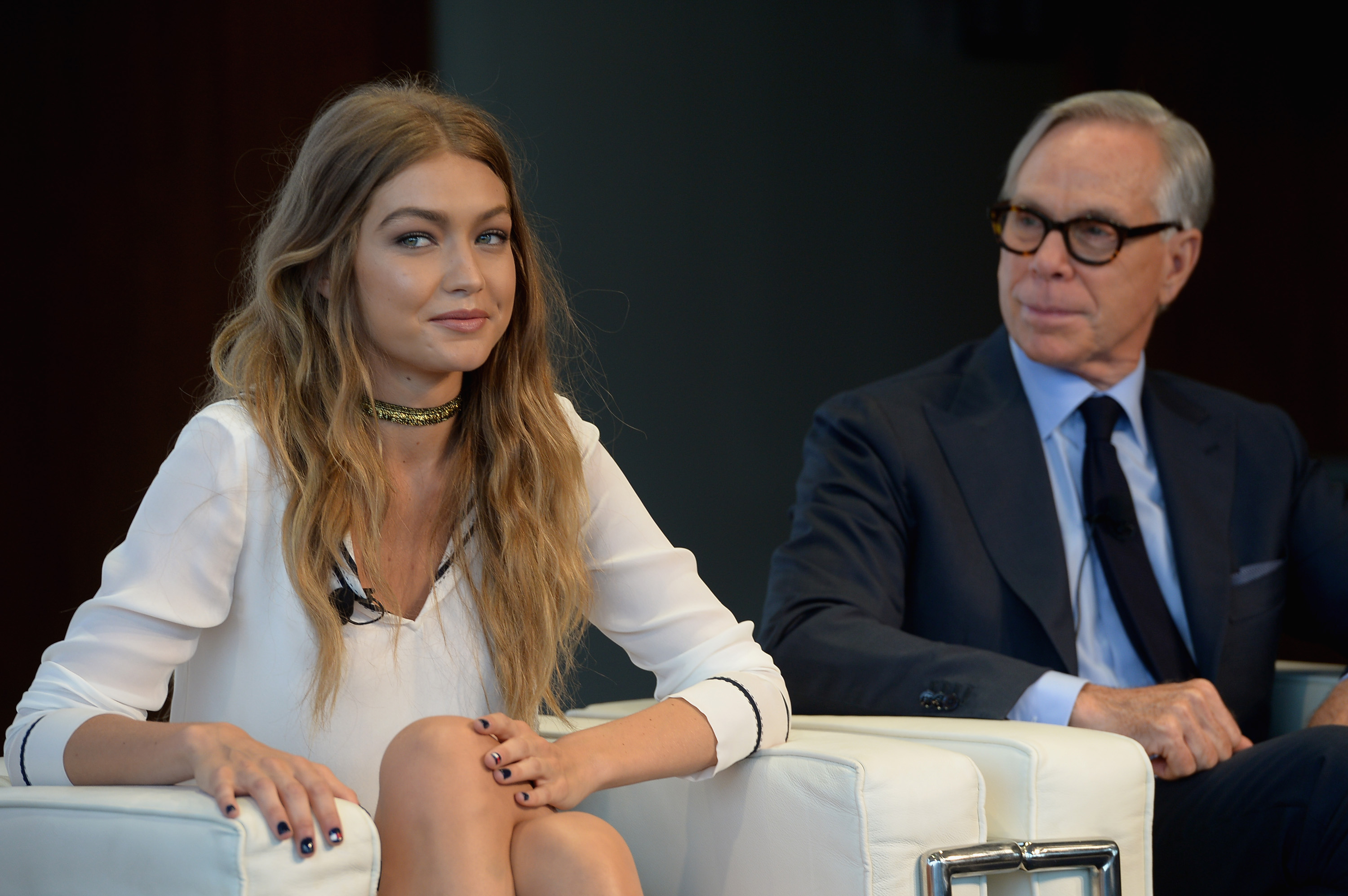 Gigi Hadid's Tommy Hilfiger-inspired nail art is cute and easy to do