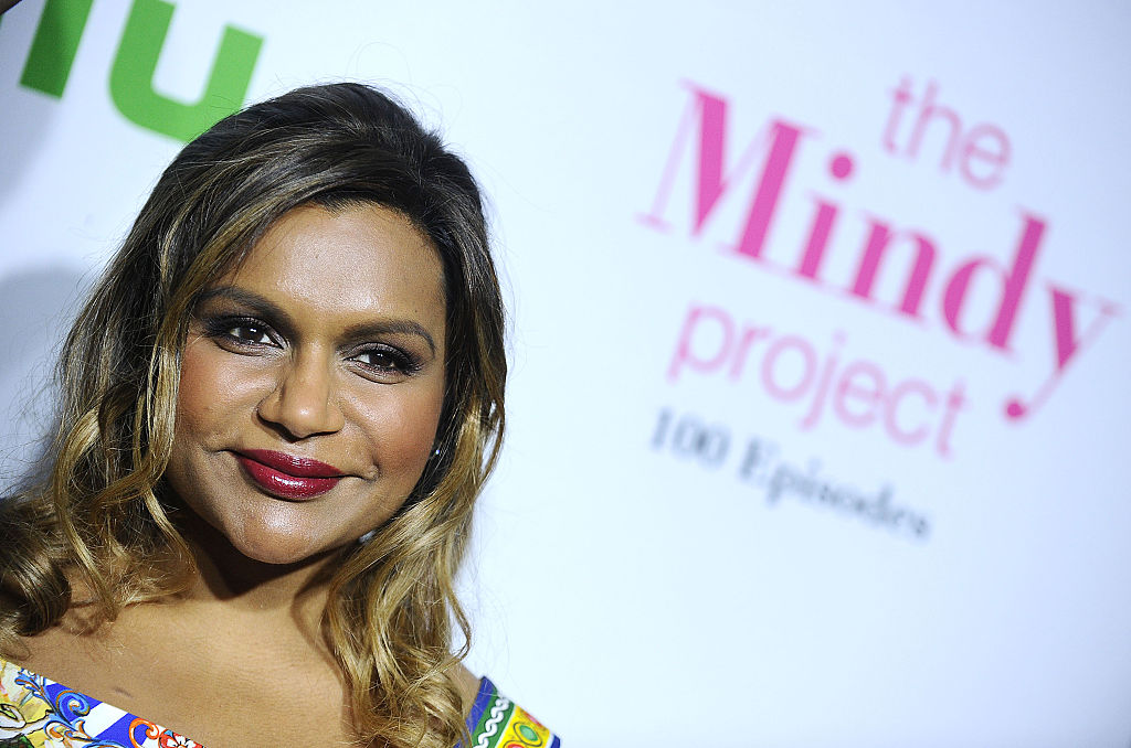 Mindy Kaling's crazy patterned dress is giving us style goals for DAYS