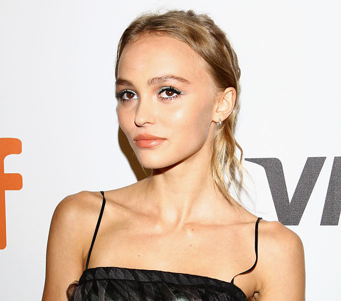We love the fact that Lily-Rose Depp's dress is basically covered in gothic streamers