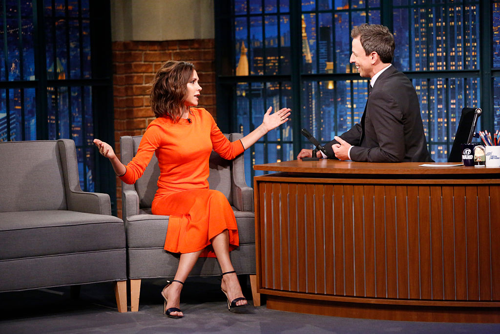 Victoria Beckham talks about her mega-talented kids on Seth Myers, and it's just adorable