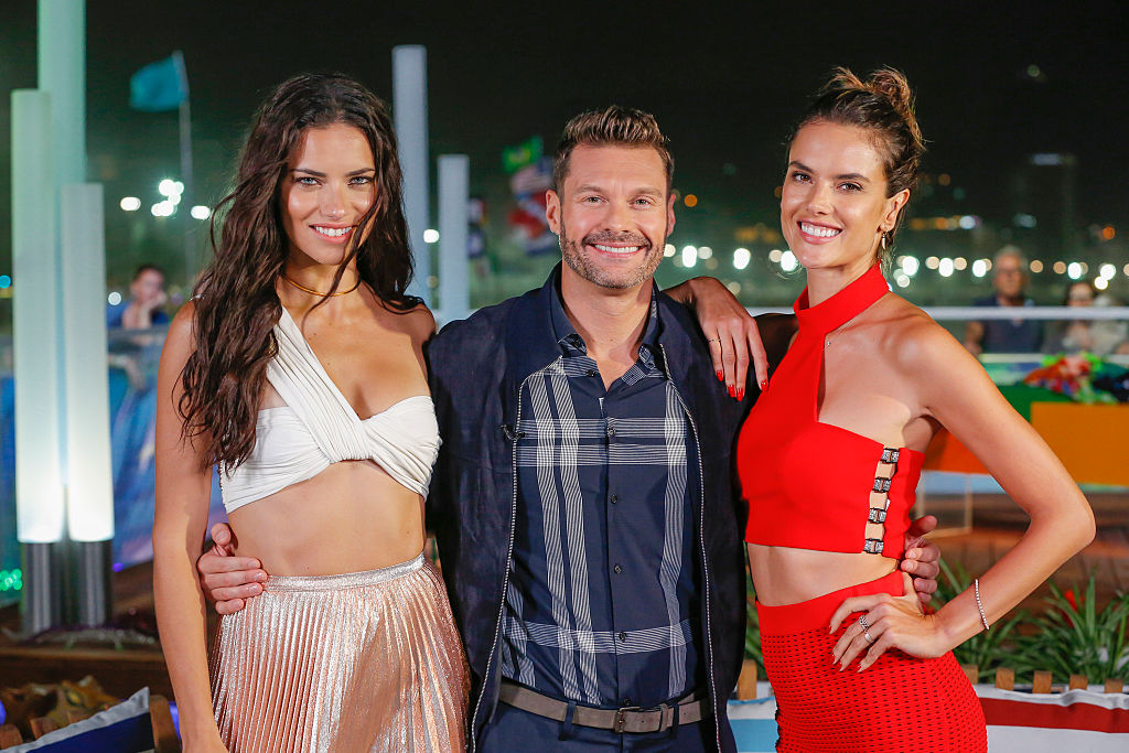Ryan Seacrest and Victoria's Secret model Adriana Lima look like bffs, and we're SO into it