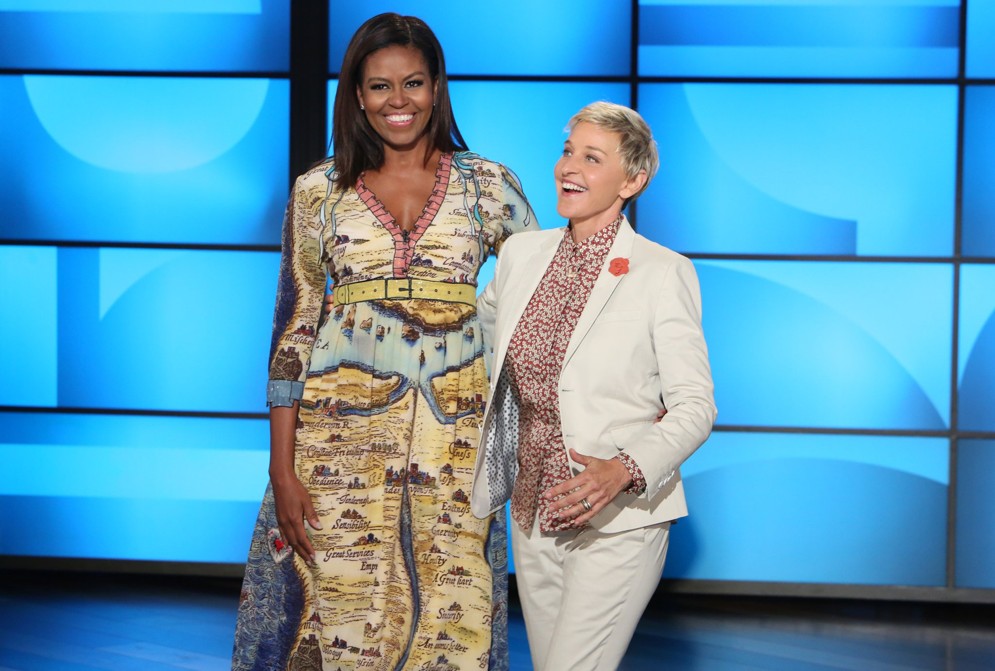 Michelle Obama's dress has hidden words on it — but now we're in on the secret