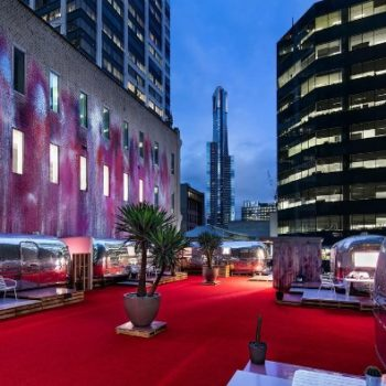 This hotel in Melbourne is a bunch of Airstream trailers on a rooftop and we need to go there immediately