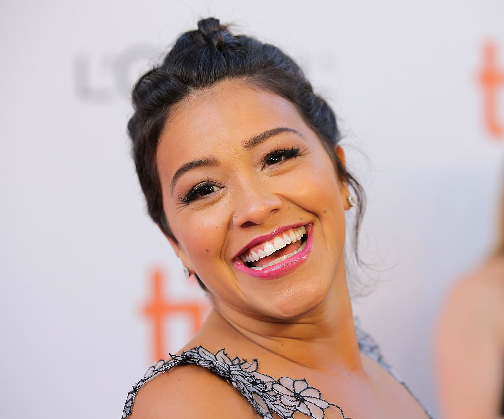 Gina Rodriguez looks like a gauzy garden in this flowy gown filled with florals