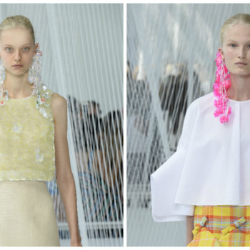 Majorly swooning over these intense icicle-inspired earrings at NYFW