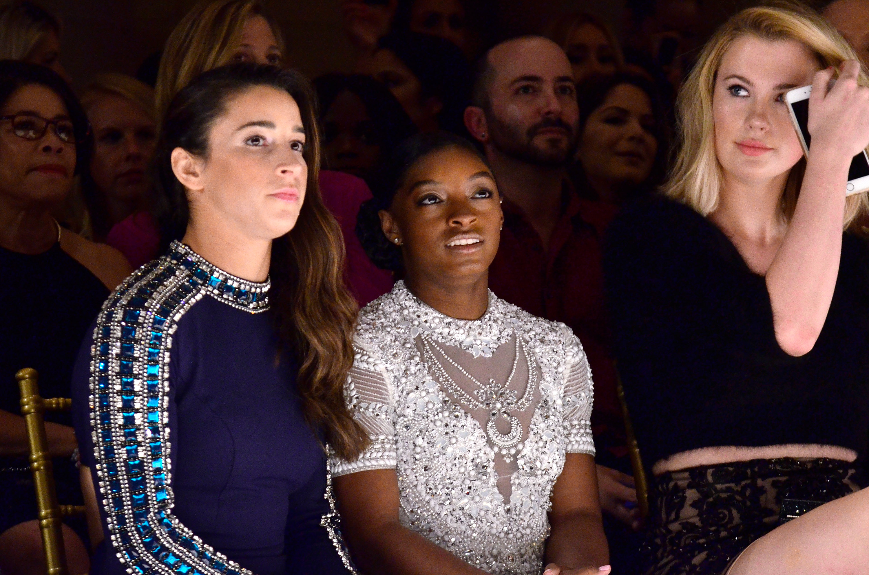 Simone Biles and Aly Raisman are having the best time at NFYW