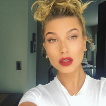 Hailey Baldwin just instagrammed getting her eyebrows bleached, and it doesn't look super fun