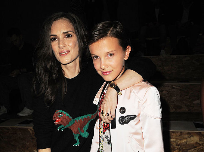 Millie Bobby Brown and Winona Ryder just had the sweetest reunion ever