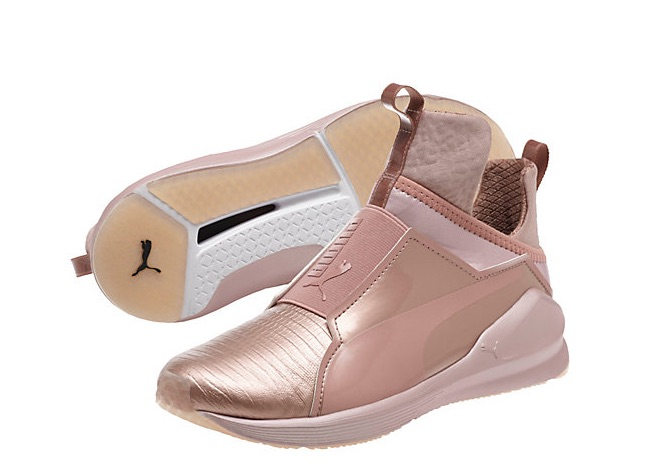 These rose gold running shoes make working out an exercise in glam