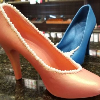 Forget glass slippers, our fairy godmother needs to bring us this chocolate high heel, STAT