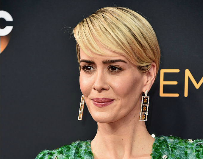 Sarah Paulson's Emmys look seems inspired by J.Lo's iconic green Versace dress