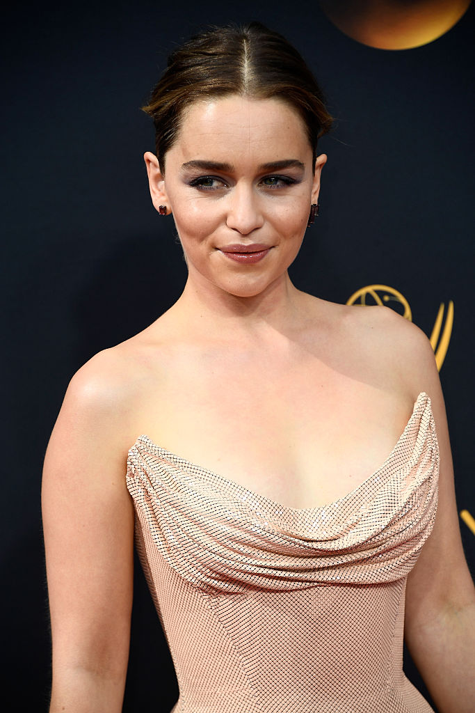 Emilia Clarkes nude dress at the Emmys is breathtaking
