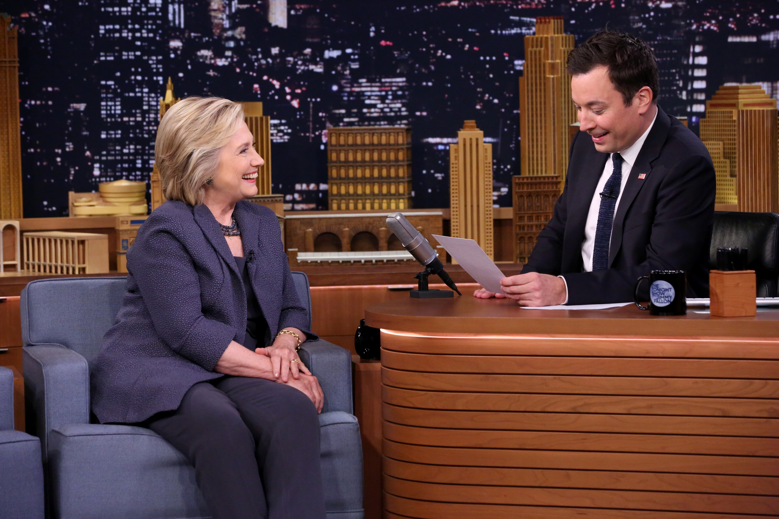 Jimmy Fallon reads kids' letters to Hillary, and it's amazing